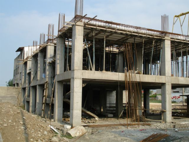 نمایی از پیشرفت فیزیکی پروژه ساخت مسکن فجر - مجمع خیرین